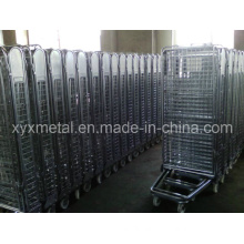 4 Sides Security Metal Wire Mesh Roll Container