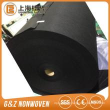Tissu spunlace viscose / fibre de bambou noir