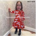 Princesa desgaste vestido de natal listra vestido de uma peça 3-5 anos de idade baby girl party dress