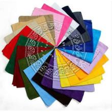 La moda imprimió el pañuelo de encargo del logotipo del anacardo del deporte, cuadrado de algodón bufanda de Hip-hop
