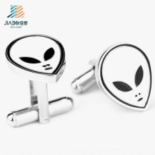 Best Selling Custom Alloy Cut Paint Ghost Cufflink for Holloween Promotion
