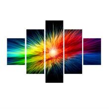 Pop Art 5 Peças Cores Explosão Impressão Canvas