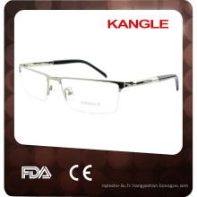 2017 FDA approbation hommes en métal lunettes optiques cadres