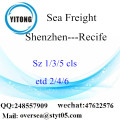 Shenzhen Port LCL Consolidation To Recife