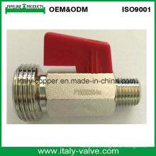 Válvula de bola de latón cromado / Válvula de manguera pequeña (AV-MI-2008)
