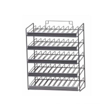 Grocery store promotion metal wire bottle display rack