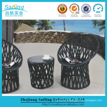 Hot Sale Creative Rattan French Bistro Tables Chairs