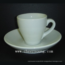 Porcelain Espresso Coffee Cup and Saucer (CY-P570)