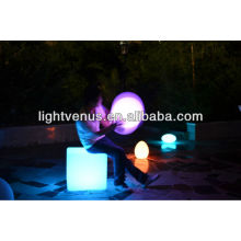 30 cm /multi color changing/reasonable price/factory direct sale waterproof rechargeable outdoor square plastic stool