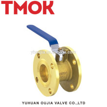 Top long handle brass Flange ball valve