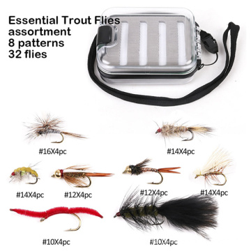 em estoque truta essencial voa moscas de pesca voa