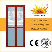 De Buena Calidad Puertas de vidrio de aluminio al ras (SC-AAD056)