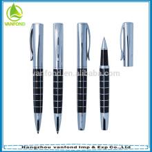 Stylo de rouleau de libre d'encre de promotion de luxe à la signature, regal élégant stylo liquide