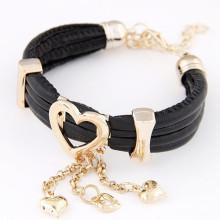 Braceletes de Charme com Multilayers pulseiras de coração Love Heart FB03