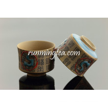 Династии Цинь Китайские персонажи и Терра Котта Лошади Керамические чашки чая