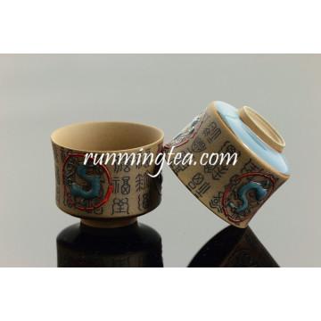 Qin Dynasty Personnages Chinois et Terra Cotta Horses Coupe de thé en céramique