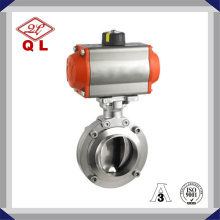 Ss304 y Ss316L Válvula de mariposa sanitaria del actuador eléctrico del acero inoxidable