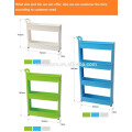 Gap Storage Slim Slide Out Storage Tower Rack Shelf with Wheels 3 to 5 Tier
