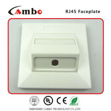 Made In China 1/2/4 Port Australia wall plate cat 6 rj45 panel mountable extension cable