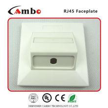 Feito na China 1/2/4 Port Australia placa de parede gato 6 rj45 cabo de extensão montável em painel