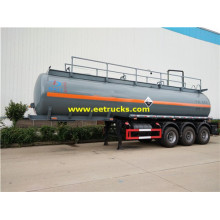 Tri-axle 28 CBM Acido clorhídrico Transport Trailers