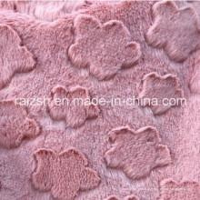 Tela de felpa de veludo de urdidura da tevê Projetos escovados da nuvem da flor
