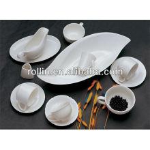 Set de cena seguro del hotel de la porcelana blanca popular superventas, vajilla