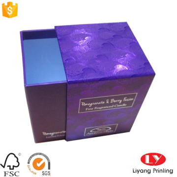 Candle drawer gift packaging box dengan logo