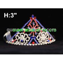 Tiara de desfile de diamantes de imitación