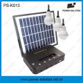 3шт 4 Вт панели солнечных батарей 1 Вт SMD светодиодные лампы Солнечной комплект с функцией Заряжателя телефона (ПС-K013)