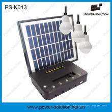 4W Painel Solar 3PCS 1W SMD Lâmpadas LED Kit Solar com função de carregador de telefone (PS-K013)
