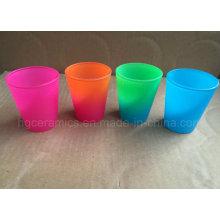 Vidro de tiro de cor de néon, vidro de tiro da cor do arco-íris