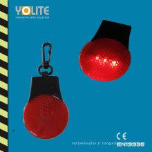 Keychain réfléchissant avec la lumière de LED pour la sécurité