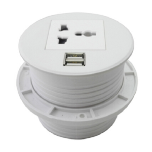 Universal Electric USB Desk Switch Socket Power Grommet Cover