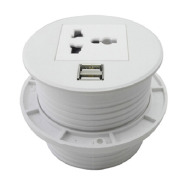 Hot New Products for Office Standing Desk Cable Management Universal Electric USB Desk Switch Socket Power Grommet Cover supply to Bhutan Supplier