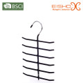 Eisho Black Tie Hanger Vinly Coating Metal Hanger