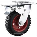 Heavy Duty 8 Inch Swivel Caster, Iron Hub and Rubber Tread Caster