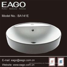 Fregadero de baño de cerámica con encimera
