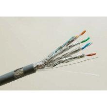 Cat7 SSTP Câble Ethernet en cuivre solide blindé avec données 10g / 600MHz