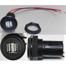 12V DC 4.6A Dual USB Car Charger Socket/Jack