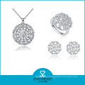 Classical 925 Sterling Silver AAA Quality Stone Necklace (J-0059)