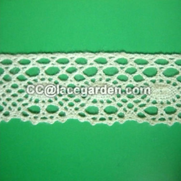 100% Cotton Lace in White Color