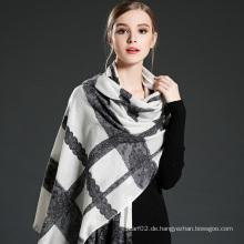 Frauen Lace Stitching Wolle Schal Schal