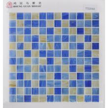 Mosaico de vidrio para azulejos de pared 23 * 23mm