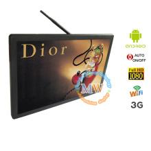 21.5 inch wall network advertising LCD, android OS wifi LCD advertising