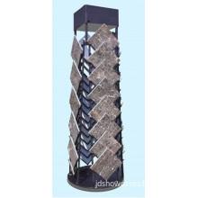 Display Stand for Ceramic Tile, Rotating Metal Rack for Stone Tile