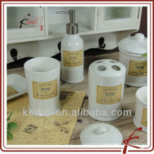 Mini Cheap stoneware Ceramic bathroom Bath Set for washroom