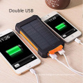 Solar Power 2000mAh External Dual Ports Powerbank