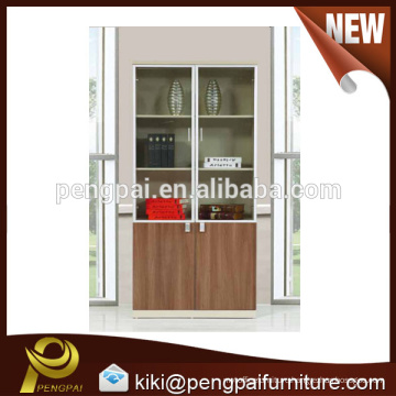 2015 Chinese factory direct sale high quality drawer glass two doors filing cabinet