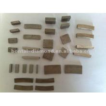 Unterschiedliche Form von Diamantsegmenten für Sägeblatt und Schleifwerkzeuge